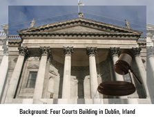 Four Courts Building in Dublin, Irland